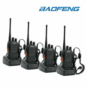 4Pk-Baofeng-BF-888S-UHF-Transceiver-CTCSS-Two-way-Radio-16Channels-Walkie-Talkie