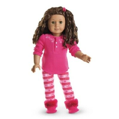 """Authentic 18/"""" AMERICAN GIRL DOLL FAIR ISLE PAJAMAS PJS OUTFIT CLOTHES NIB Julie"""