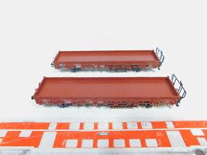 Bz715-0-5-2x-Marklin-h0-ac-4694-Rungenwagen-wagons-DB-un-KK-neuw