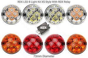 RDX-LED-Land-Rover-Defender-8-Light-Kit-XS-Style-with-Relay