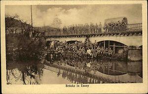 Soldaten-1-Weltkrieg-1914-18-Bruecke-in-Essey-Frankreich-Westfront-Carte-Postale