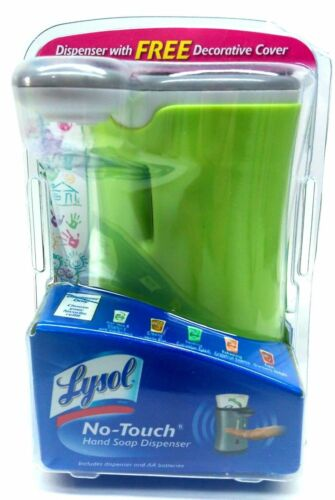 Lysol No-Touch Automatic Soap Dispenser WHITE with Removable Decorative Cover