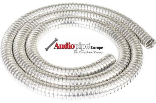 1m Chrom Kabelummantelung Kabelschutz Marderschutz Wellrohr Tuning Motorraum