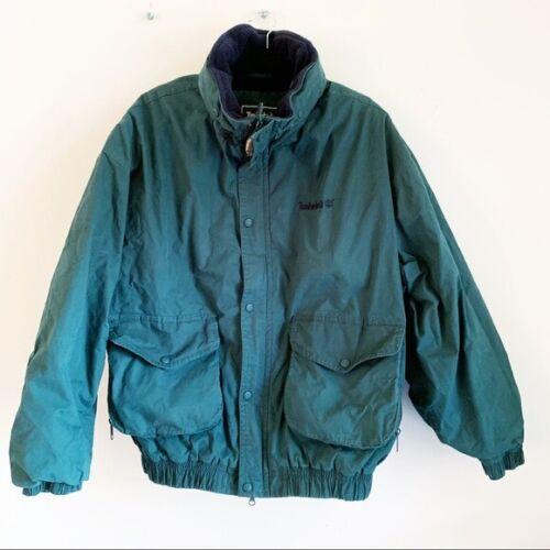 Vintage Timberland Hunter Green Men's Jacket XL