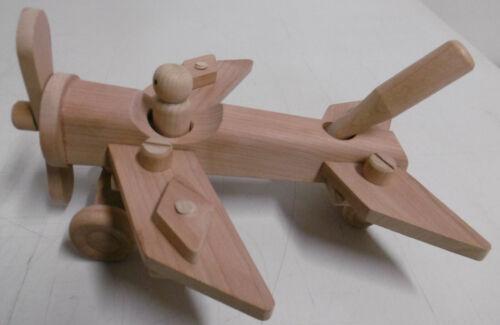Holzspielzeug Holzspielzeug Flugzeug Holzflugzeug zerlegbar Kinderspielzeug 19 Teile Geschenk Spielzeug