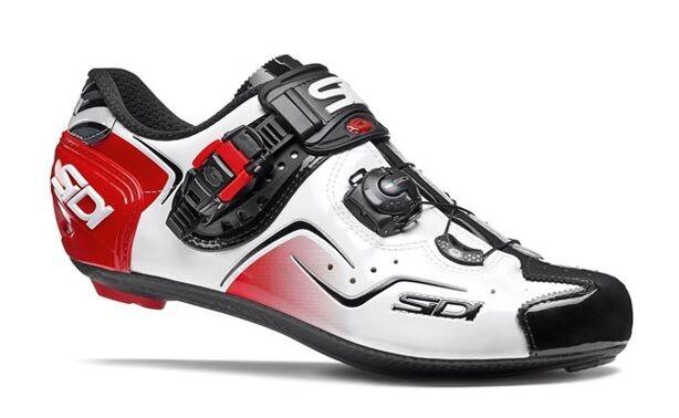 Nuevos Zapatos De Ciclismo Sidi Kaos, blancoo Negro Rojo, EU39-46