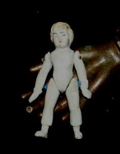 """5//8/"""" antique authentic parts bisque porcelain legs china parian dollhouse doll"""