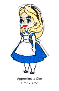 Disney Alice in Wonderland Embroidered Iron On Sew On Patch