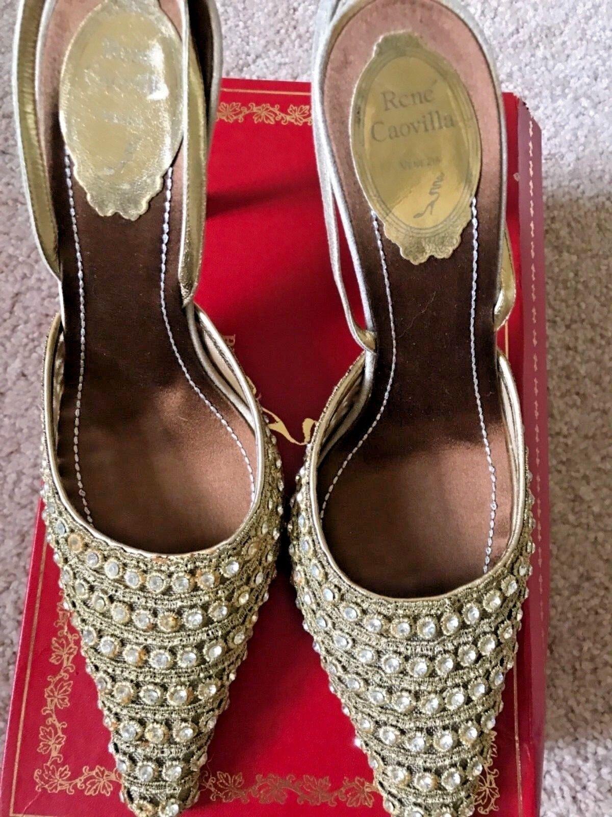 presentando tutte le ultime tendenze della moda NWB NWB NWB   RENE CAOVILLA BURMA oro donna Dimensione 37.5  migliore qualità