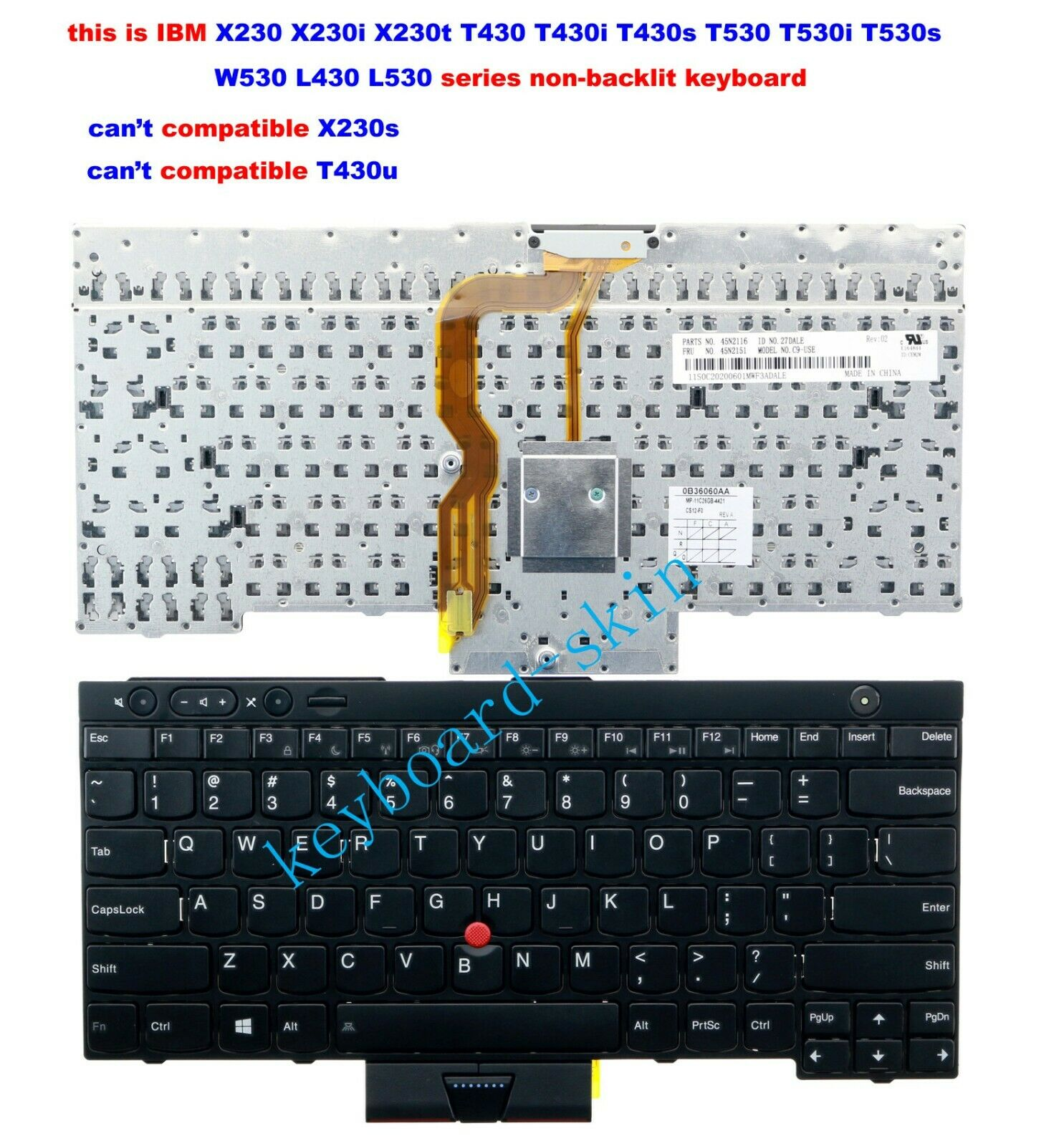 New for lenovo IBM Thinkpad T430 T430s T430i X230 X230i T530 W530 L530 Keyboard