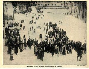 Bien Informé Spectateurs à La Grande Tremplin Dans Oberhof Historique Accueil De 1912-afficher Le Titre D'origine Ture 100% Garantie