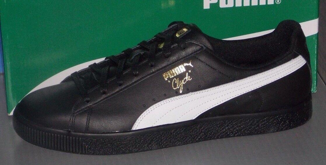 Para Hombre Puma En Clyde Core L Aluminio En Puma Colores Negro/Blanco/Dorado 64fb5c