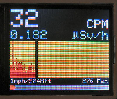 DIY Geiger Counter Kit Plus – Color graphic display, Logging, More