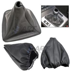 Funda-para-palanca-de-cambio-para-Bmw-E46-Coupe-cuero-costura-negra-boot-gaiter