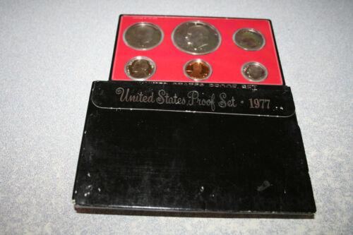 1977 US Coin Proof Set Eisenhower Dollar Kennedy Half Birth Year Free Ship 00801