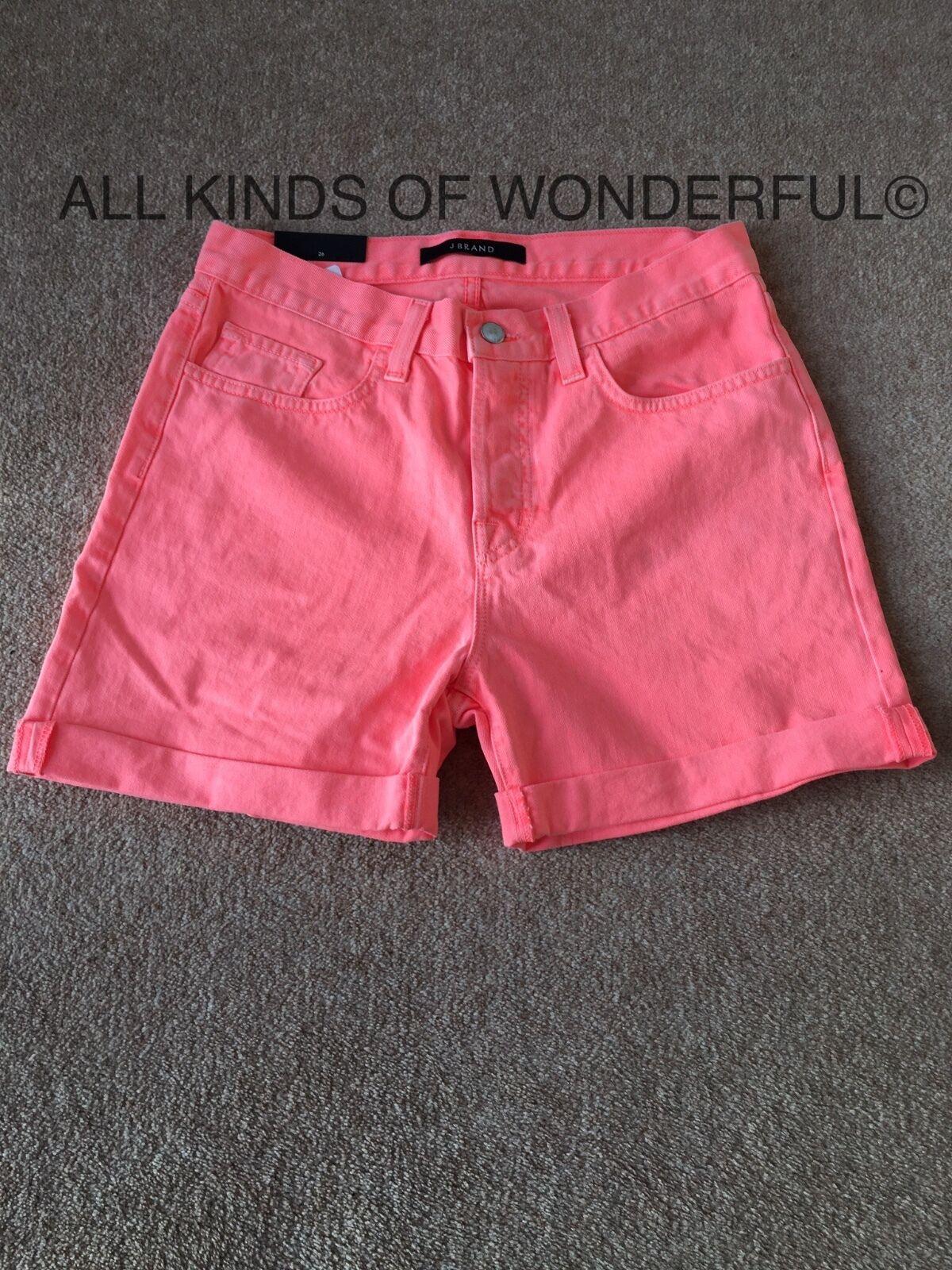 J Brand Kennedy Low Cuffed Short  Choice of Flamingo or Eternity RRP   BNWT