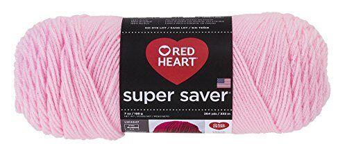 Baby Pink, 7 oz each skein 2-pack Bulk Buy Red Heart Super Saver