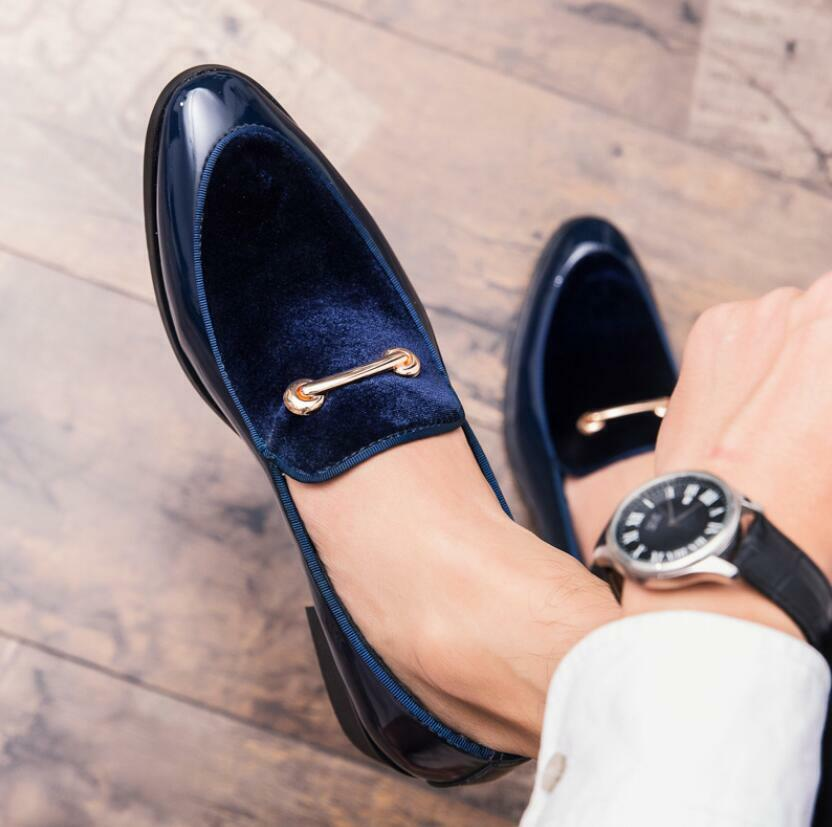 Mens British Style Formal shoes Pointed Toe Business Wedding shoes Low Top Ths01