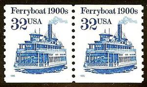 2466b 32c Bronx Blue Error / EFO Ferryboat Mint NH
