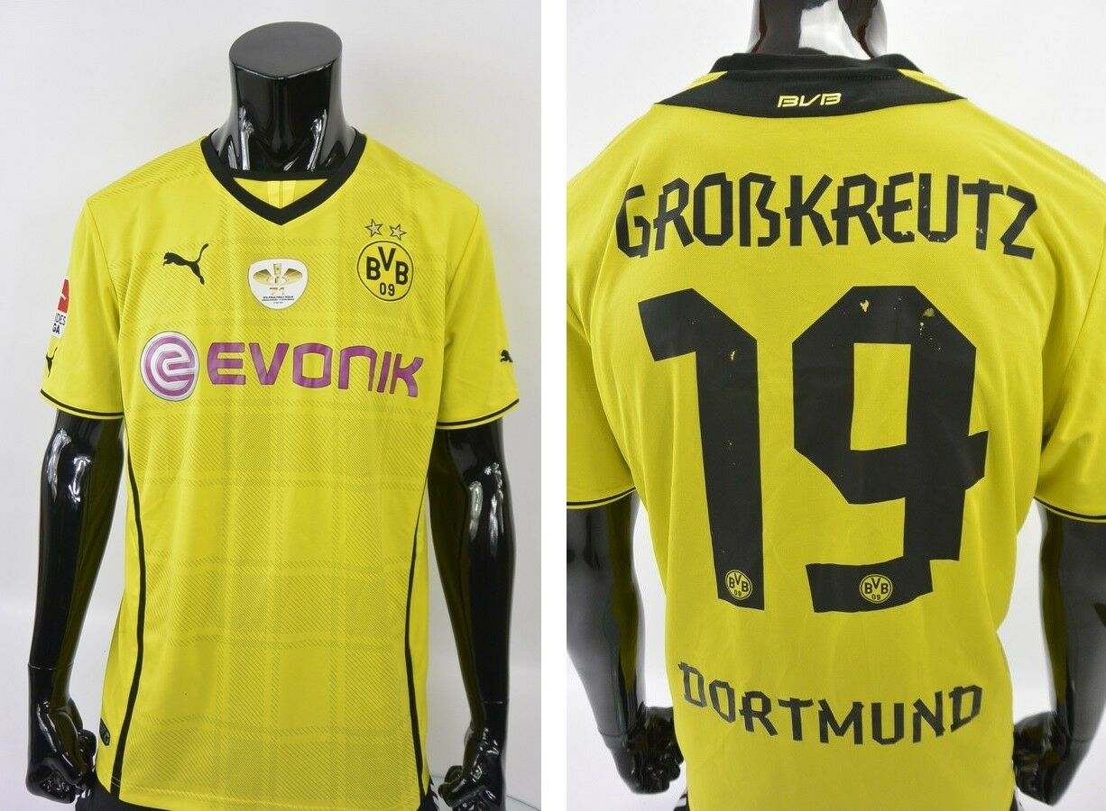 Puma BVB Borussia Dortmund Home Shirt Dfb 2014 Kevin Großkreutz Größe XL (adults)  | Lebendige Form