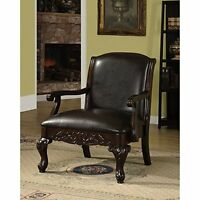 Furniture Of America Antique Dark Cherry Accent Living Room Chair