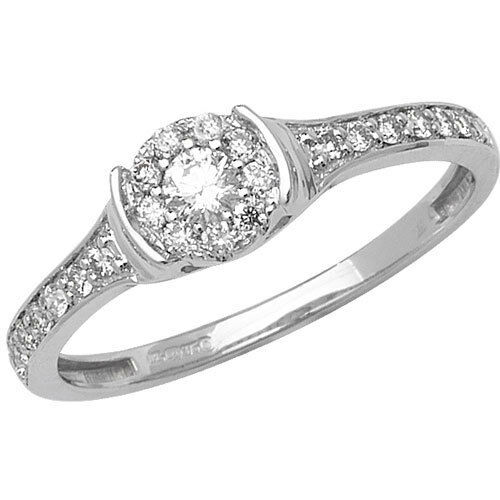 NEW 9ct gold & 0.33ct Diamond Ring Size N