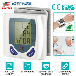 Portable-Wrist-Blood-Pressure-Monitor-BP-Cuff-Heart-Rate-Detector-Check-Pulse