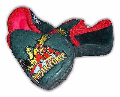 Chicos Zapatillas Zapatos Power Rangers Slip On Negro sintéticas Tamaños 5-10 Mrp £ 10