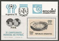 ARGENTINA. 1978 World Cup Victory Miniature Sheet. SG: MS1597. Mint Never Hinged