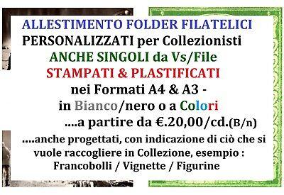 Allestimento Folder X Raccogliere In Collezione Francobolli,figurine &vignette