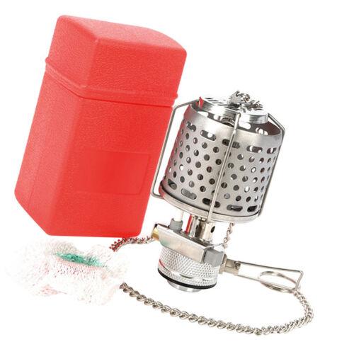Mini Portable Camping Lantern Gas Light Tent Lamp Torch Hanging Metal Lamp