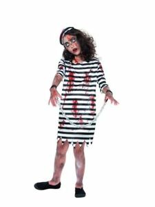 Fringant Zombie Prisonnier Fille, Halloween Enfant Robe, Grande Fantaisie 10-12 Ans-afficher Le Titre D'origine