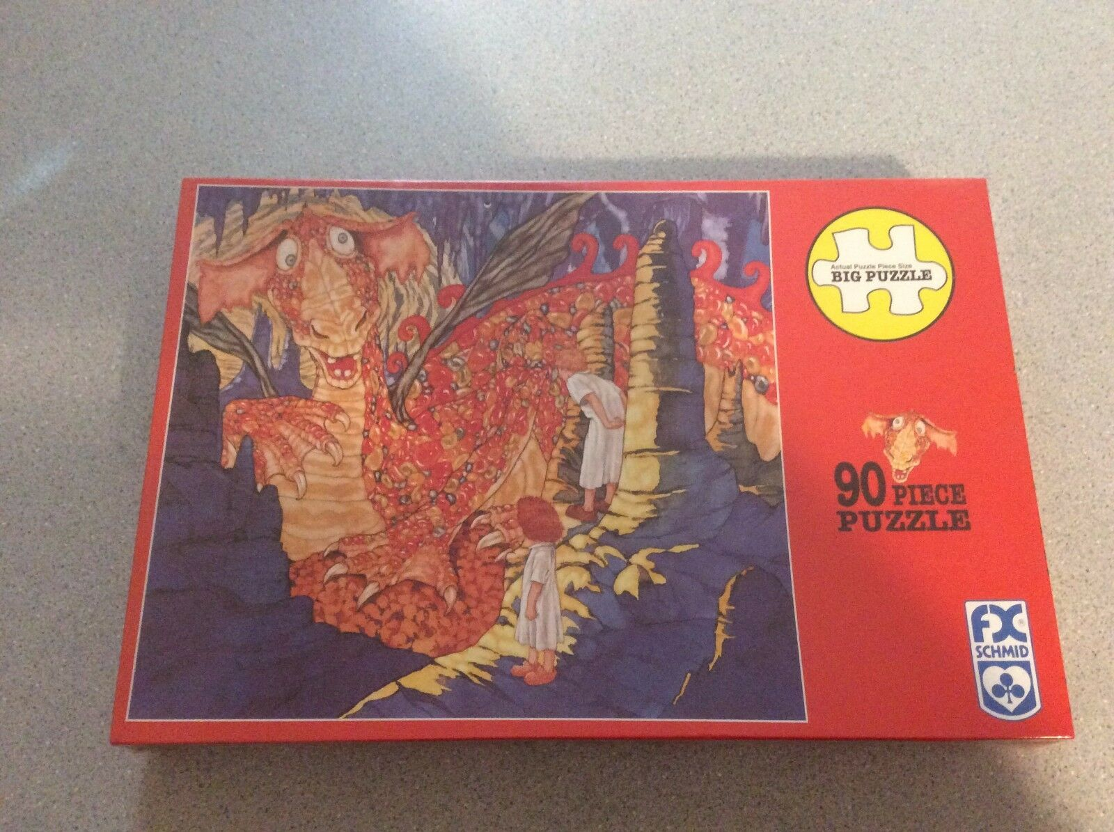 90 Piece Big Puzzle Jelly Bean Bean Bean Dragon Schmid No. 90111 New Sealed 49b1f0