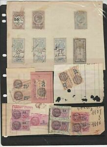 french revenue stamps on piece ref 16490