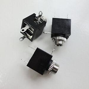 5pcs mono jack female socket panel chassis mount. Black Bedroom Furniture Sets. Home Design Ideas