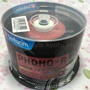 Verbatim-SR80PH50V1-CD-R-Disc-48x-50pcs-Record-Design-JAPAN