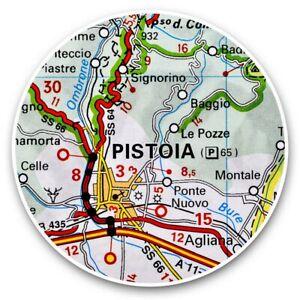 2-x-Vinyl-Stickers-30cm-Pistoia-Europe-Italy-Italian-Travel-Map-46123
