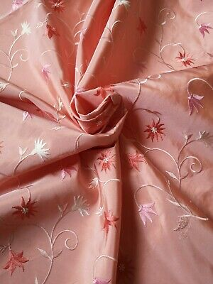 per metre womenswear dress fabric /'Amaryllis I Embroidered Taffeta