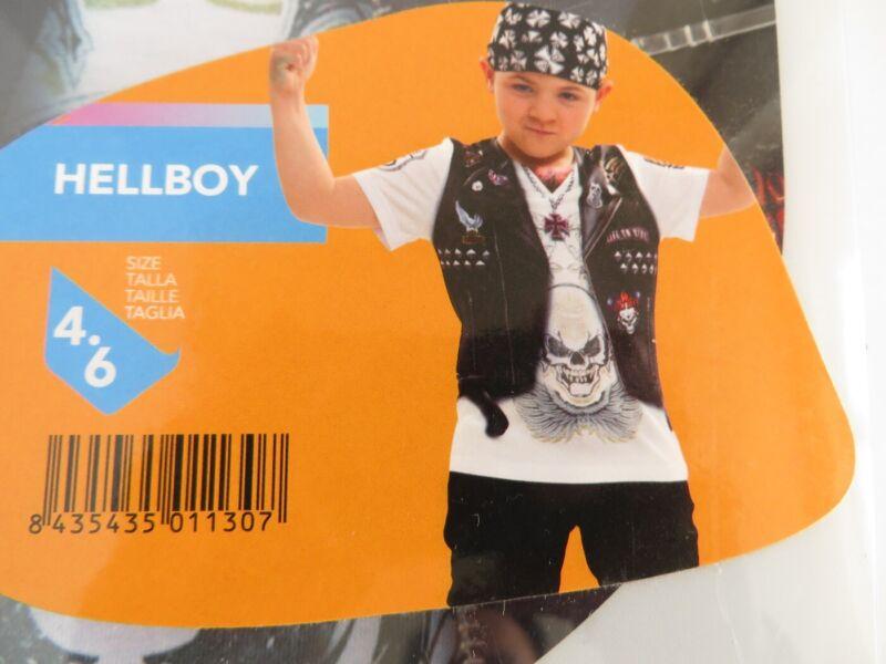 'hellboy' Niños Fancy Dress Camiseta De Disfraz Vestirse Traje De La Edad De 4-6 Años