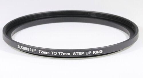 72-77mm Step up Filter ring Black Aluminium UK