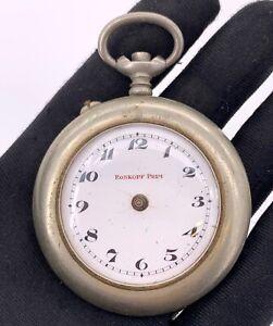 Roskopf-Prim-Main-Manuel-Vintage-51-mm-Pas-Fonctionne-pour-Parts-de-Poche-Montre