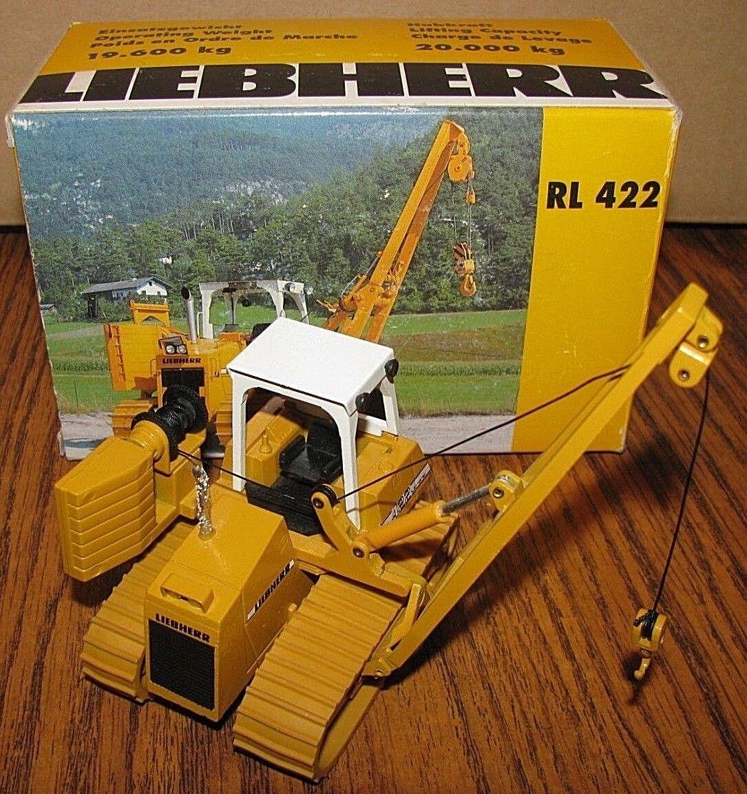 Conrad LIEBHERR RL422 Litronic colocador de tubos Crawler Tractor De Juguete 1/50 2804 Alemania