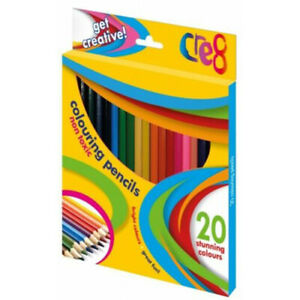 PACK-OF-20-STUNNING-COLOURING-PENCILS-NON-TOXIC-CHILDRENS-CREATIVE-ARTS-CRAFTS