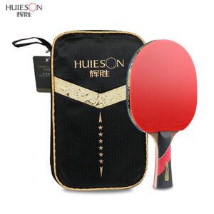 HUIESON-6-Star-Carbon-Fiber-Table-Tennis-Racket-Ping-Pong-Paddle-Bat-With-Bag