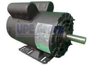 5 Hp Electric Motor >> Details About 5 Hp Electric Motor 3450 Rpm Air Compressor 56 Frame 1 Phase 7 8 Shaft 230vac