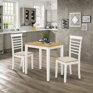 Small-Solid-Wooden-Dining-Table-and-2-Chairs-Set-in-White-amp-Oak-Finish-Kitchen