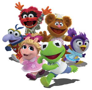 """Muppet Babies Iron On Transfer 5"""" x 5"""" for LIGHT Colored Fabric"""