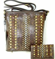 Montana West American Bling Concealed Carry Cross Body Bag Purse And Wallet