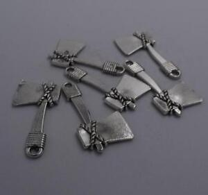 2pcs-Antique-silver-plated-nice-axe-charm-pendant-T0610