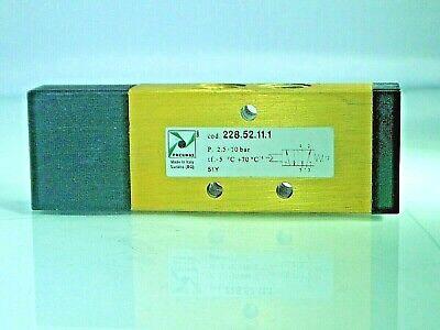 1//8 Bsp Can Panel Mount Pneumax 228.52.8//2 Manual Push Valve,5//2 2 Position